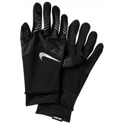 Перчатки для бега Nike MENS STORM-FIT HYBRID RUN GLOVES S BLACK/BLACK/SILVER
