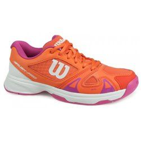 Кроссовки для тенниса Wilson jr RUSH PRO 2.5 CORAL/PK/WH