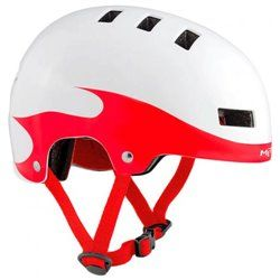 Шлем MET YOYO S WHITE/RED FLAMES