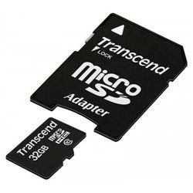 Карта памяти microSDHC 32GB Class 10+adapter Transcend