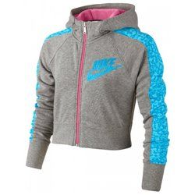 Толстовка Nike SEASONAL CROPPED FZ HOODY YTH