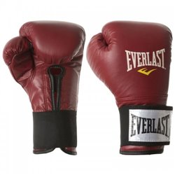 Боксерские перчатки EVERLAST Leather velcroed training glove