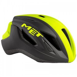 Шлем Met Strale Black Safety Yellow Panel/Matt 56-58