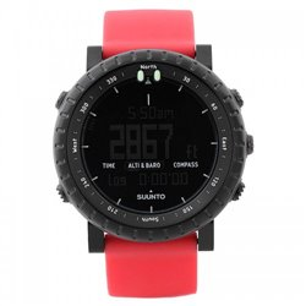 Часы Suunto CORE ALL BLACK + RED CRUSH RUBBER STRAP