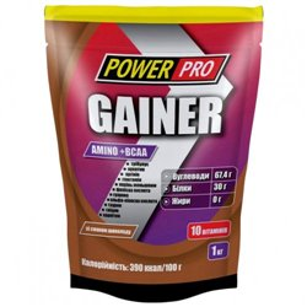 Гейнер PowerPro Gainer, 1 кг - шоколад