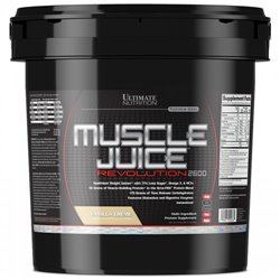 Гейнер Ultimate Nutrition MUSCLE JUICE 2600 Revolution, 5,04 кг - vanilla