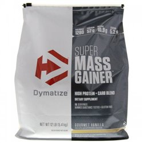Углеводный гейнер DymatizeSuper Mass Gainer 5,4кг - vanilla