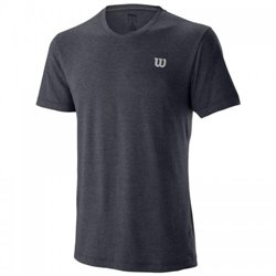 Футболка Wilson m TRAINING V-NECK TEE GRANITA SS19