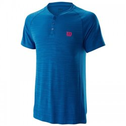 Футболка Wilson m COMPETITION SEAMLESS HENLEY BLUE SS19