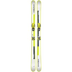 Горные лыжи с креплениями HEAD 2020-21 Frame Wall + ATTACK² 13 GW BRAKE 95 [A] white/neon yellow