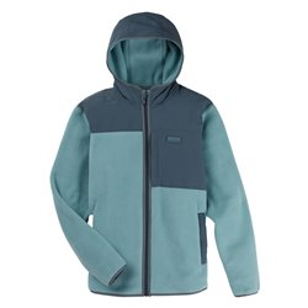 Флис сноубордический BURTON 2020-21 Hearth Full-Zip Hooded Fleece Trellis/Dark Slate