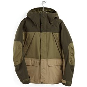 Куртка сноубордическая BURTON 2020-21 Breach Insulated Forest Night/Martini Olive/Kelp