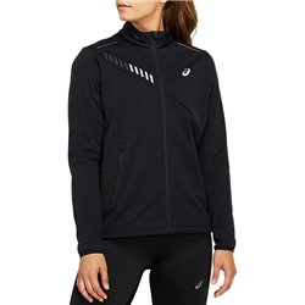 Куртка беговая Asics 2020-21 Lite-show winter jacket Performance Black/Graphite Grey
