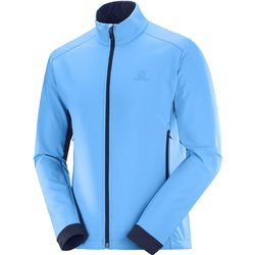 Куртка беговая SALOMON 2020-21 Agile softshell m Blithe/Night Sky