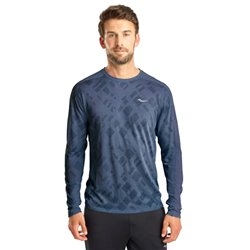 Футболка беговая Saucony 2020-21 Ramble Long Sleeve Mood Indigo