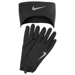 Повязка/перчатки Nike DRI-FIT WOMENS RUNNING HEADBANDGLOVE SET  XS BLACKSILVER