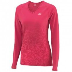 Термо кофта Mizuno Mid Weight Print V Neck