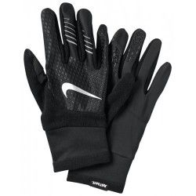 Перчатки для бега Nike WOMENS THERMA-FIT ELITE RUN GLOVES M BLACK/BLACK/SILVER