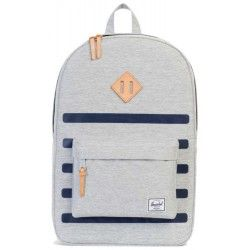Рюкзак Herschel Heritage Light Grey Crosshatch Stripe/Veggie Tan Leather