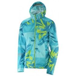 Ветровка Salomon S LIGHTNING WIND GRAPH HOODIE W